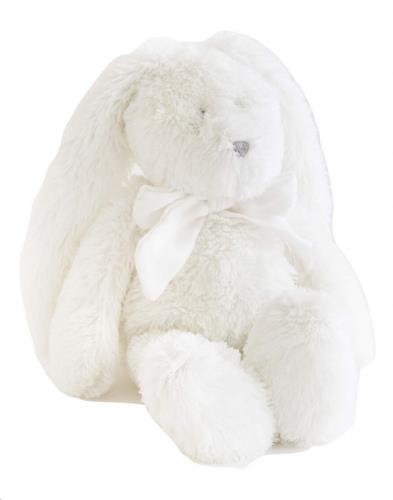 FLORE 25 wit konijn wit strikje