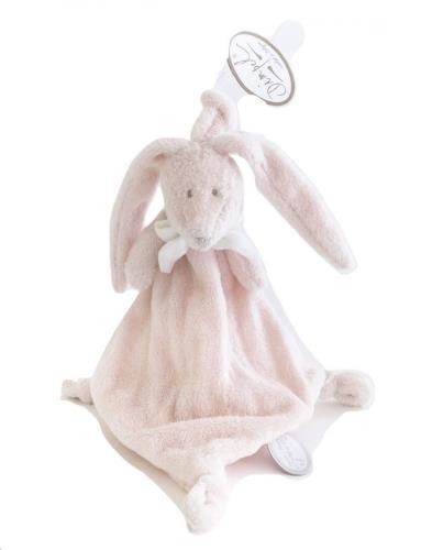 FLORE TUTTIE roos konijn tutdoekje wit strikje