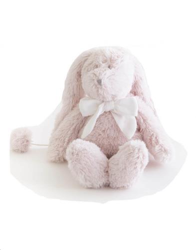FLORE MUSICAL roos muzikaal konijn wit strikje