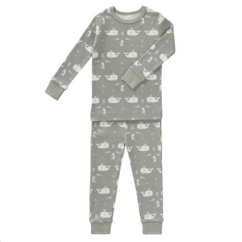 2-Delige pyjama Whale dawn grey maat 1 jaar