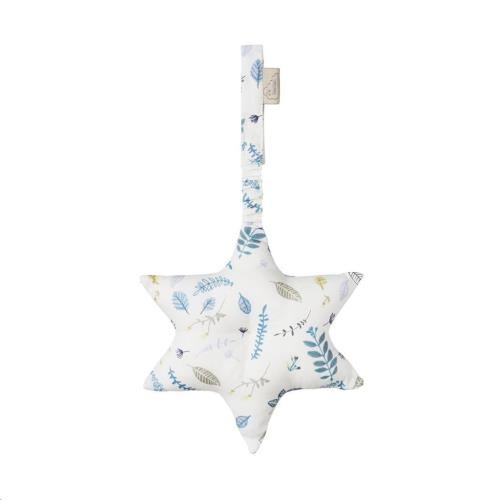 Play Gym speeltapijt speeltje Star knisper - OCS Pressed Leaves Blue