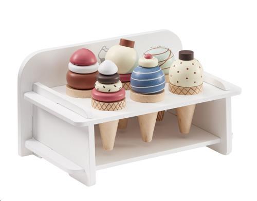 Presentatierek voor ijsjes + 6 ijsjes