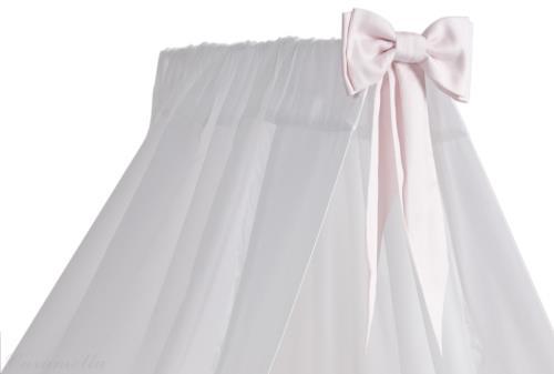 Hemel wit met roze strik