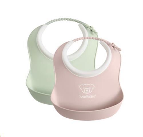 Baby Slabbetje duopack Pastelgroen/Pastelroze