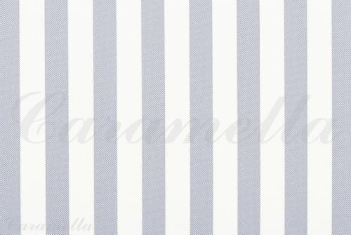 Behangpapier wit/blauw gestreept