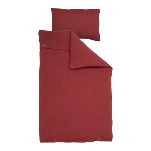 1 pers. dekbedovertrek - pure indian red