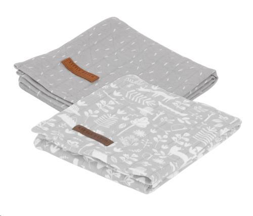Swaddle doek 70 x 70 - adventure grey (set van 2 designs)