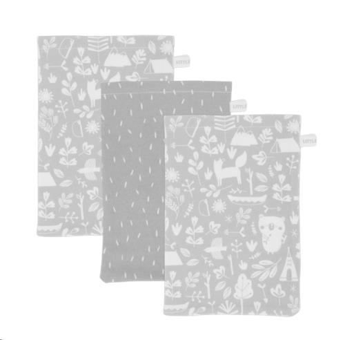 Washand - adventure grey (set van 3)