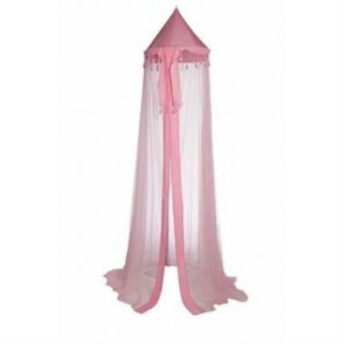 Klamboe met kwastjes 230cm roze