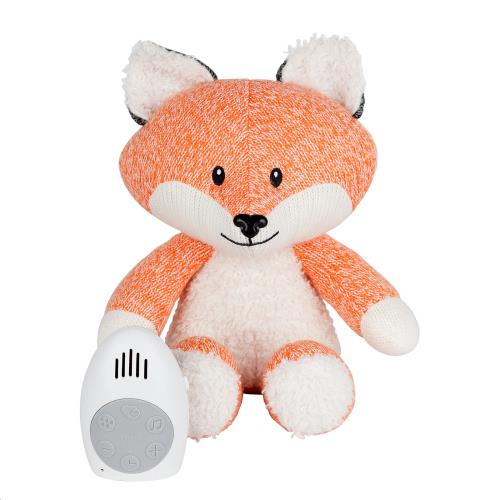 Knuffel met hartslag Robin the fox - orange