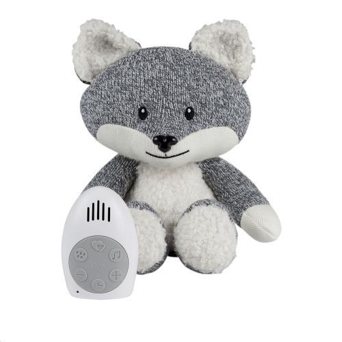 Knuffel met hartslag Robin the fox - grey
