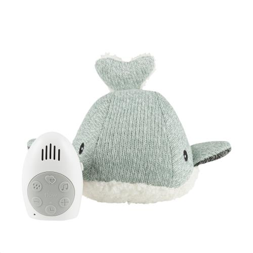 Knuffel met hartslag Moby the Whale - green