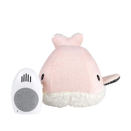Knuffel met hartslag Moby the Whale - pink