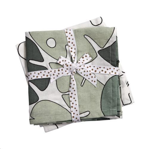 Burp cloth, 2-pack, Tiny tropics 70 x 70 cm