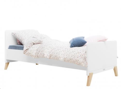 BED 90x200 MILA WIT/NATUREL