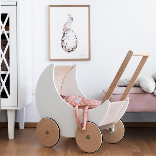 SABO MOON TOY PRAM WHITE