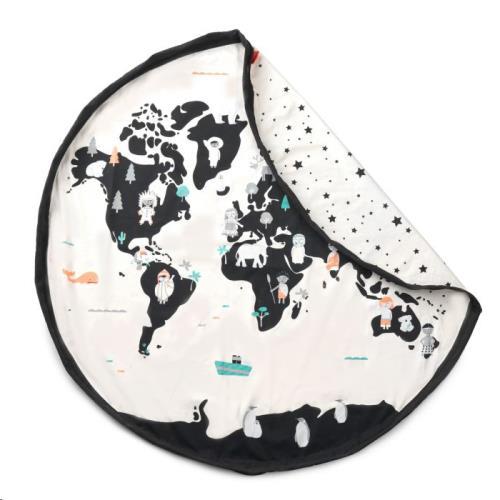 Prints speelmat / opbergzak 140cm Worldmap/stars