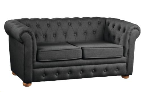 Chesterfield sofa donkergrijs